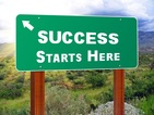Picture of sign saying Success Starts here
